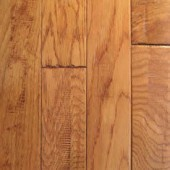Oak Hand Sculpted Mullican Flooring 2-1/4 Gunstock