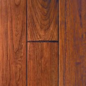 Cherry Hand Sculpted Mullican Flooring 2-1/4 Cabernet