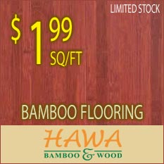 Bargain of the Week, Hawa Bamboo stained cherry only $1.99 square foot