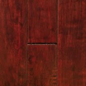 Cherry Hand Sculpted Mullican Flooring 2-1/4 Mocha
