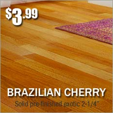 Cikel Brazilian Cherry prefinished hardwood only $3.99 square foot